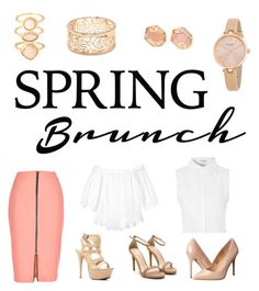 """""""Spring brunch"""" by lucie87 on Polyvore featuring River Island, Rebecca Taylor, Glamorous, Madden Girl, Monsoon, Forever 21, Kate Spade and Kendra Scott"""