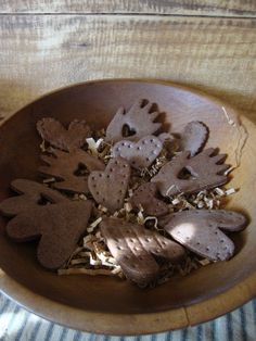 Cinnamon Salt Dough Heart In Hand Bowl Fillers