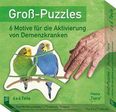 """Groß-Puzzles: 6 Motive für die Aktivierung von Demenzkranken: Thema """"Tiere"""" ++ Groß-Puzzles für die #Aktivierung von Demenzkranken ++ Ideal für die #Kurzaktivierung in der Demenzbetreuung + Große, griffige #Puzzle-Teile aus robustem Karton + Mit #Bildvorlagen im Legerahmen zum einfachen Nachlegen + Alltagsmotive, die jeder wiedererkennt + Zum Erhalt der visuellen, motorischen und kognitiven Fähigkeiten + Auch für den Einsatz zu Hause geeignet #Demenz #Betreuung"""