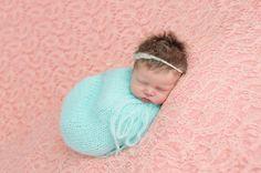 AQUA Snuggle Sack Mohair Swaddle Sack Newborn by SquishyBabyStuff
