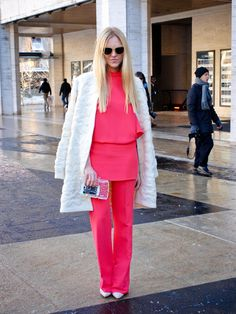 Bittersweet Colours: Street Style NYFW I Dress, Street Style, Colours, Chic, Shoulder, Dresses, Fashion, Shabby Chic, Vestidos
