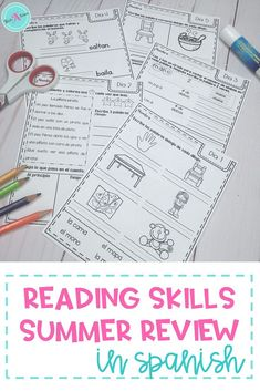 Support your dual language students' language skills this summer while they are away from the classroom with this review packet for first grade