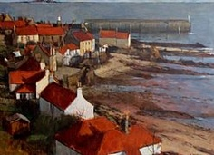 Pittenweem (Calm) by George Gilbert RSW Artist Brush, Landscape Paintings, Acrylic Paintings, Fashion Painting, Installation Art, All Art, Art Gallery, Artwork, Pictures