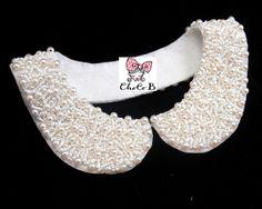 Pearl Beaded Necklace Detachable Collar/ Peter Pan Collar. $25.00, via Etsy.