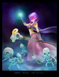 Clash of Clans Witch by BirgSc she is my favorite, being able to summon skeletal minions