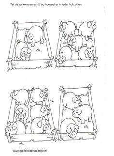 Werkblad tellen: Tel de varkens