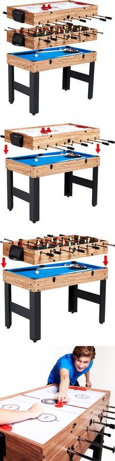 Foosball 36276: Multi Game Table Combo Convert 3 In 1 Football Soccer Pool Billi Hockey -> BUY IT NOW ONLY: $128.38 on eBay!
