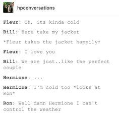 fleur delacour, harry potter, hp, Bill Weasley, Ron Weasley, Hermione granger