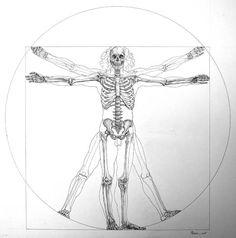 Skeleton. Vitruvian Man Leonardo Da Vinci. Skeleton. #Skeleton #Vitruvian #Man #Proportions #Ideal_Figure #Ideal_Proportions