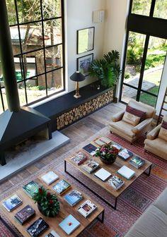 Idea for Firewood Storage Design Deco Design, Design Case, Loft Design, Design Hotel, Casa Rock, Interior Architecture, Interior And Exterior, Interior Windows, Interior Modern