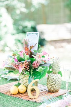 A  beautiful colourful Tropical Wedding styled shoot at Stoke Place
