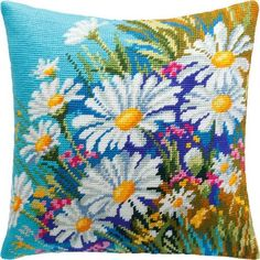 How to work on a needlepoint tapestry kit. Needlepoint Pillows, Needlepoint Designs, Needlepoint Stitches, Needlepoint Kits, Funny Needlepoint, Cross Stitch Pillow, Cross Stitch Embroidery, Cross Stitch Designs, Cross Stitch Patterns