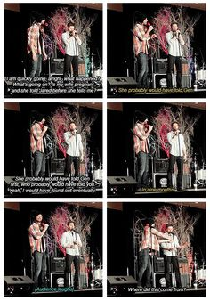 """This what I would call Padackles family dynamics :) LOL // Jensen is explaining how he found out that they got renewed for Season 12 ... """"I am like, thanks"""" ~ Jensen to Jared [GIFSET] #Vegascon 2016 #Supernatural 