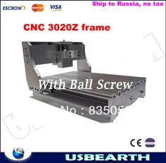 DIY CNC frame 3020Z for engraving machine, cnc machine rack with ball screw for CNC3020 Z, free tax to Russia #Affiliate