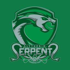 Slytherin Serpents Quidditch Emblem - Mitch Ludwig