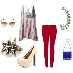 Cute forth of july outfit!!!