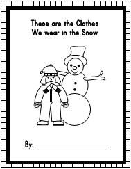 "Printable Class Book for the book ""The Jacket I Wear in the Snow"" from Making Learning Fun"
