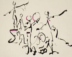 현대무용공연3::나무로 된 징을 치며 추는 남성의 춤