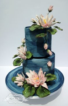 Pretty water Lilly pond cake