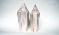 "'Tall' Quartz Crystals- Stoneware. 14"" - 15.25"""