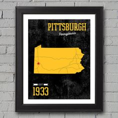 Pittsburgh Steelers Print  University Prints by UniversityPrints, $12.00