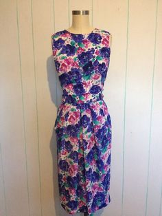 Altered Vintage Floral Print Dress by SallyMarieVintage on Etsy
