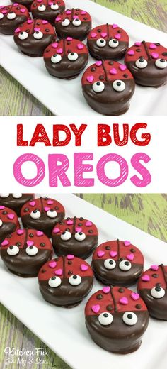 Lady Bug Oreos - such a fun Valentine's Day treat idea for kids.