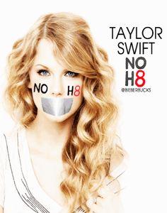 No H8 campaign. Taylor Swift, Demi Lovato, Selena Gomez, Justin Bieber, Jasmine Villegas