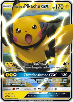 Armored Pikachu GX by on DeviantArt Cool Pokemon Cards, Rare Pokemon Cards, Pokemon Trading Card, Cute Pikachu, Pikachu Pokemon Card, Pokemon Cards Legendary, Deviantart Pokemon, Pokemon Breeds, Cute Pokemon Wallpaper