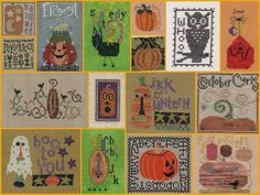 Halloween Cross Stitch Freebies   October - brought to you by...Pumpkins (and an Owl).