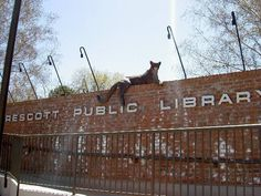 The Prescott Library in Prescott, AZ, a place where I would love to read if ever i would live in Prescott.