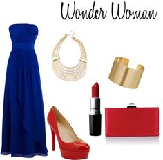 Wonder Woman, created by maritza-lv on Polyvore