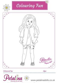 Colouring Fun with Petitcollin's Sylvia Natterer Dolls - Starlette Melissa – Printable Colouring Sheets