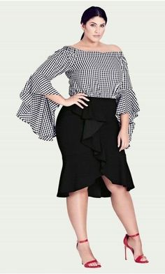 City Chic are the Leaders in Plus Size Womens Fashion specializing in Plus Size Womens Dresses, Tops, Bottoms, Outerwear, Swimwear and Lingerie. Plus Size Fashion For Women, Curvy Women Fashion, Fashion Models, Fashion Outfits, Plus Fashion, Womens Fashion, Fashion Trends, Cheap Fashion, Plus Size Skirts
