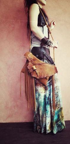 hippie Bohème fringe sac en cuir Elk parfaire cerf par NomadWorld