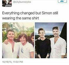 Louis is cute in both pics