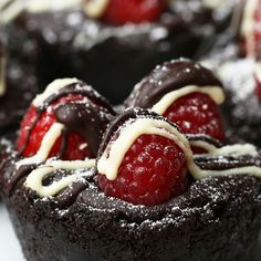 Easy Chocolate and Raspberry Tarts