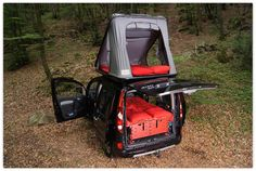 Swiss Army-inspired modular camping box turns your small car into an RV