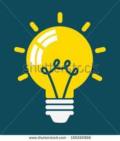 Light Bulb icon, Concept of Idea, Vector illustration - stock vector