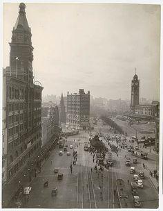 Sydney, Australia: Railway Square, 1945