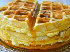 Waffles were a popular snack in the late and were served at the Valley Green Inn which is still standing in the Wissahickon today! Breakfast Waffles, What's For Breakfast, Breakfast Items, Breakfast Dishes, Breakfast Recipes, Pancakes, Yummy Waffles, Cinnamon Waffles, Fluffy Waffles