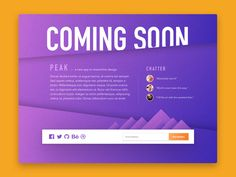 Coming soon page designed for the dailyui challenge.