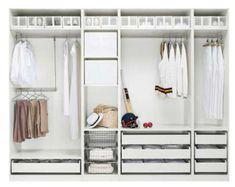 storage ideas open wardrobe closet ikea now visit Master Bedroom Closet, Bedroom Wardrobe, Wardrobe Closet, Home Bedroom, Pax Closet, White Wardrobe, Closet Doors, Bedroom Apartment, Master Suite