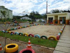 playground de pneus velhos - Pesquisa Google