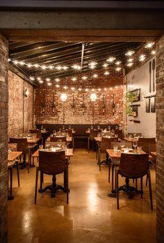 Barbalu is an Italian restaurant near the South Street Seaport. Rustic Restaurant Interior, Italian Restaurant Decor, Modern Restaurant Design, Pizzeria Design, Decoration Restaurant, Deco Restaurant, Restaurant Interior Design, Bistro Interior, Bistro Decor