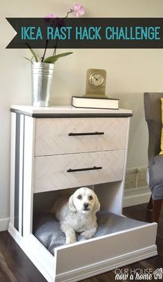Our house, now a home: IKEA Rast dresser hack- dresser into dog bed. Using IKEA furniture and turning it into a dog bed perfect for a small dog. Ikea hack.