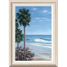 Global Gallery 'Beach Place' by Diane Romanello Framed Painting Print Size: