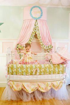 Adria Baby Crib Bedding Set from Rosenberry Rooms. Saved to Baby Crib Bedding. Toddler Rooms, Toddler Girl, Baby Rooms, Room Baby, Girl Nursery, Girl Room, Princess Nursery, Nursery Ideas, Nursery Room