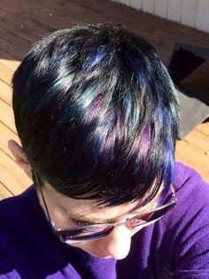 Oil slick hair!