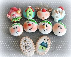 These are cupcakes but would make adorable Christmas cookies for a platter!